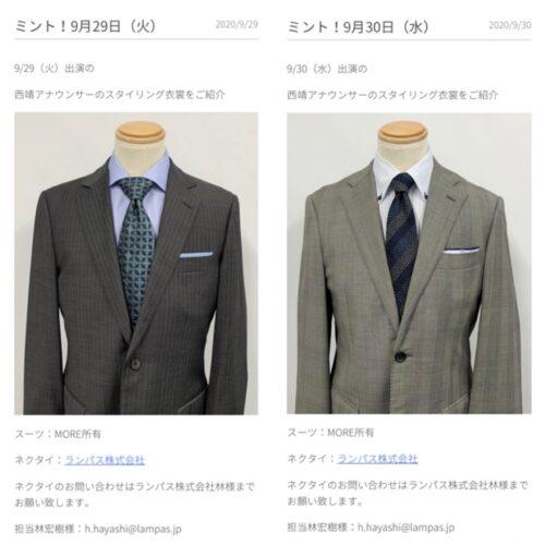 ネクタイの結び方例