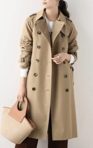 ギャバジン生地のコート
